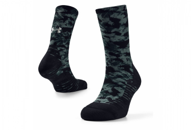 Under Armour Run Cushion Crew Socks Black green Unisex