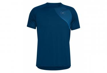 Camiseta Under Armour Qualifier Iso Chill Mangas Cortas Azul Hombre L