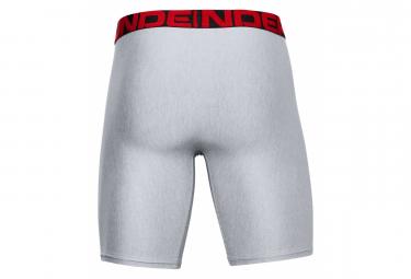 Boxer Under Armour Tech 23cm (lot de 2) Gris Homme