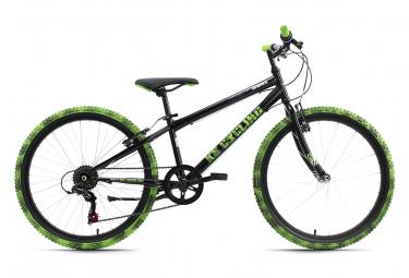 Vélo enfant 24'' Crusher noir-vert TC 31 cm KS Cycling