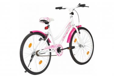 vidaXL Vélo pour enfants 24 pouces Rose et blanc