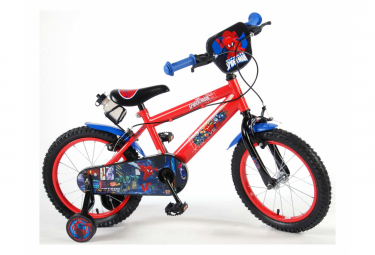 Vélo pour enfants Ultimate Spider-Man - Garçons - 16 pouces - Rouge noir - 2 leviers de fein