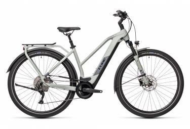 Bicicleta Ciudad Mujer Cube Kathmandu Hybrid Pro 625 Trapeze Gris
