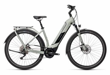 Bicicleta Ciudad Mujer Cube Kathmandu Hybrid Pro 625 Easy Entry Gris