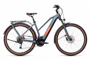 Bicicleta Ciudad Mujer Cube Kathmandu Hybrid One 625 Trapeze Bleu