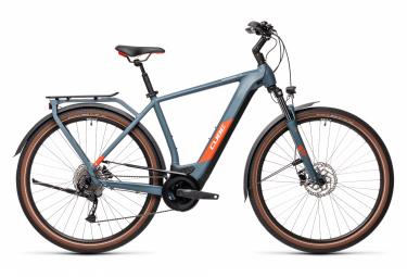 Bicicleta Ciudad Eléctrica Cube Kathmandu Hybrid One 625 700 Bleu