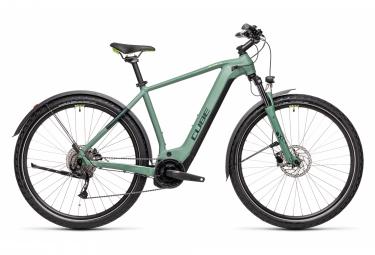 Bicicletta elettrica da turismo Cube Nature Hybrid One 625 Allroad Shimano Alivio 9S 625 Wh 700 mm Verde 2021