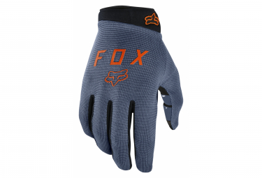 Pair of Long Fox Ranger Gloves Blue