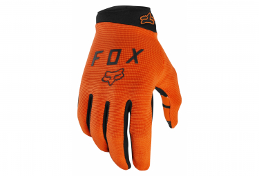 Pair of Long Fox Ranger Gloves Red / Orange