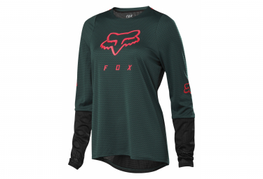 Fox Defend Women's Long Sleeve Jersey Green