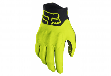 Fox Defend D3O Long Gloves Yellow Fluo
