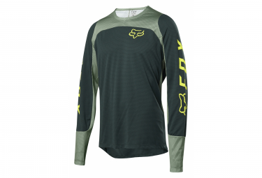Fox Defend Langarm Jersey Green