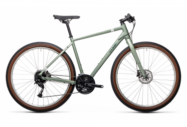 Cube Hyde Fitness City Bike Shimano Alivio / Acera 9S 700 mm Verde 2021