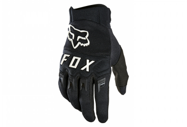 Pair of Long Fox Dirtpaw Gloves Black / White