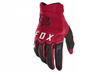 Pair of Long Fox Dirtpaw Gloves Red