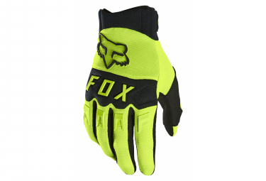 Paire de Gants Longs Fox Dirtpaw Jaune Fluo