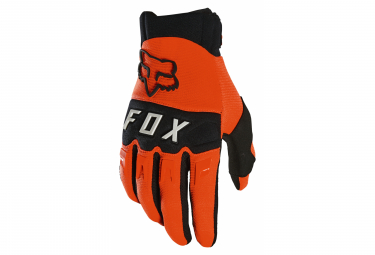 Pair of Long Fox Dirtpaw Gloves Orange