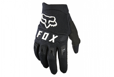 Pair of Kids Fox Dirtpaw Long Gloves Black / White