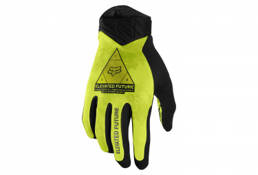 Par De Guantes Largos Fox Flexair Elevated Amarillo Fluo M