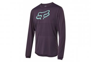Fox Ranger Foxhead Long Sleeve Jersey Purple