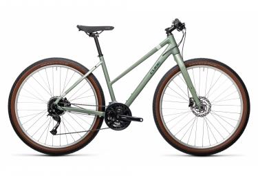 Bicicleta de ciudad Cube Hyde Trapeze Fitness Shimano Alivio / Acera 9S 700 mm Verde 2021
