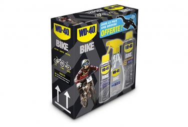 Pack Entretien WD40 Bike (Nettoyant 500ml + Huile Toutes Conditions 250ml + Dégraissant 50ml)