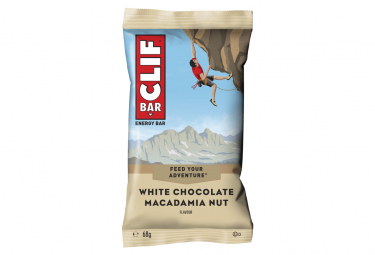 Clif Bar bar energía nueces de macadamia de chocolate blanco