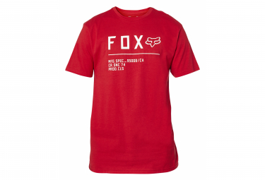 Camiseta De Manga Corta Fox Non Stop Rojo   Blanco Xl
