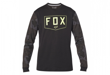 Camiseta De Manga Larga Fox Shield De Camuflaje Negro Xl