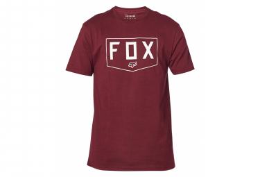 Fox Shield Kurzarm T-Shirt Bordeaux
