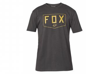 Tee-Shirt Manches Courtes Fox Shield Noir/Or