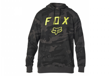 Fox Hoodie Legacy Foxhead Schwarz Camo