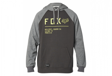 Fox Non Stop Raglan Po Hoodie Grau