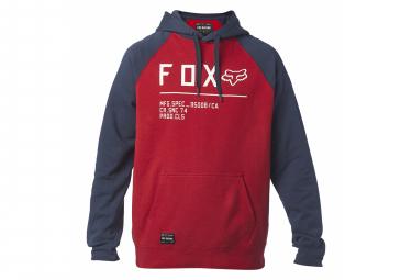 Fox Non Stop Raglan Po Red Hoodie
