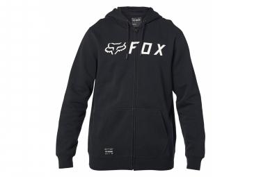Fox Apex Zip Hoodie Schwarz / Weiß