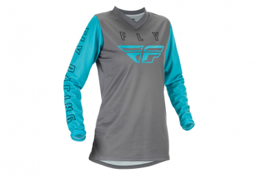 Maillot Mujer Fly F 16 2021 Gris   Azul S