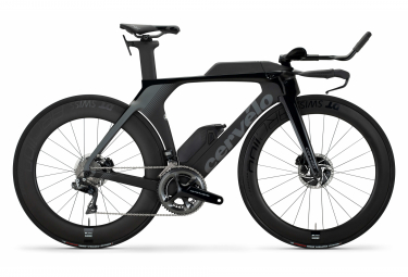 Bicicleta Triatlón Cervélo P5 Disc Shimano Dura Ace Di2 9100 11V Negro / Grafito 2021