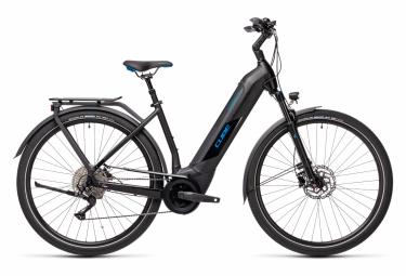 Bicicleta Ciudad Mujer Cube Kathmandu Hybrid Pro 625 Easy Entry Noir