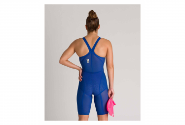 Arena Powerskin Carbon-Glide Closed Back Swimsuit Blue Red Women