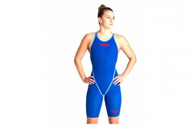 Arena Powerskin Carbon Core Fx Traje De Bano Con Espalda Abierta Azul   Rojo Mujer 30