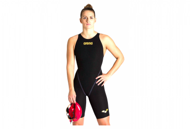 Arena Powerskin Carbon-Core FX Closed Back Jumpsuit Black / Gold Women