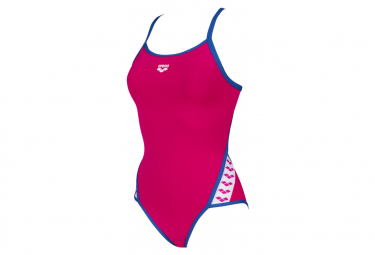 Women's Arena Super Fly Back 1-piece Swimsuit Pink Blue