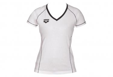 T-shirt Manches Courtes Arena Team Line Blanc Femme