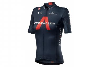 Castelli Team Ineos Competizione Grenadier Kurzarmtrikot für Damen Schwarz / Rot