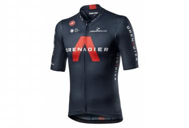 Maglia Castelli Team Ineos Competizione Grenadier manica corta Nera / Rossa