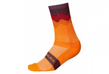 Pair of Endura Crest Line Socks Orange