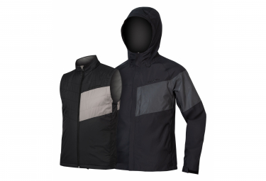 Chaqueta Endura Urban Luminite 3 En 1 Ii Negra Xl