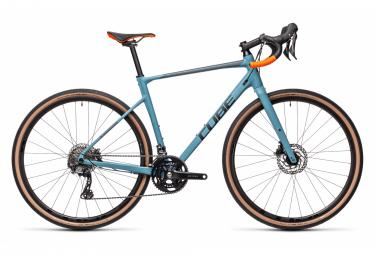 Gravel Bike Cube Nuroad Race Shimano GRX 11V Bleu / Orange