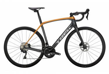 Bicicleta de carretera Trek Domane SL 5 Disc Shimano 105 11V gris litio / naranja fábrica 2021