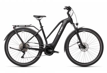 Bicicletta elettrica da città Cube Touring Hybrid Pro 625 Trapeze Shimano Deore 10S 625 Wh 700 mm Nero 2021